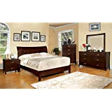 247SHOPATHOME IDF-7600CK-6PC Bedroom-Furniture-Sets, California King, Cherry