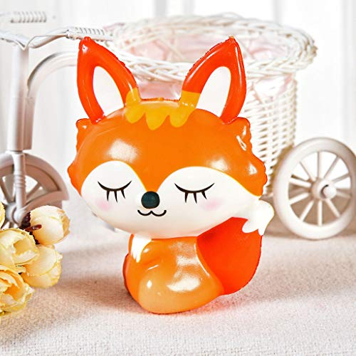 Celiy  Squishies Toy Kawaii Fox Slow Rising Cream Scented Stress Relief Toys Gifts
