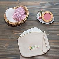 Bolsa de Aseo de Algodón Ecológico, perfecta para tus productos ecológicos y lavables: salvaslips, compresas, almohadillas de maquillaje y de lactancia; todo bien guardado y listo para ser reutilizado: Amazon.es: Salud y