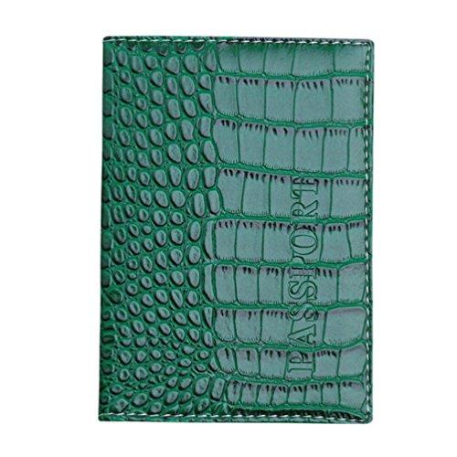 Protecteur Rose Passeport Kaki OHQ Marron Passeport En Visite Wallet Carte Porte Bleu De Jaune Noir Couverture Soft Vert Pour Violet Cuir Vert Chaud Titulaire Vin Ciel Orange qTTxwz