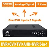 JOOAN 4CHannel 1080N 5 in 1(Compatible TVI,CVI,AHD,CBVS,IPC) CCTV DVR, H.264 NO HDD Security Surveillance Video Record (Full 960H, 1080P HD-Output/VGA/BNC Output, Smartphone& PC Easy Remote Access)