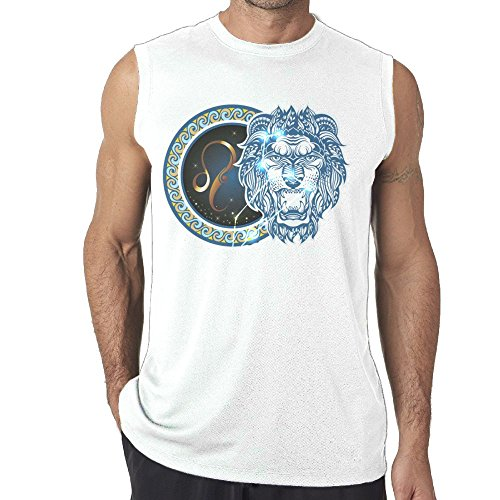 Tanks Top Sleeveless Shirts Fit Men's Funny Leo Pattern Muscle