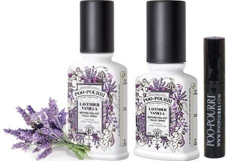 Poo-Pourri Bathroom Deodorizer Set Lavender Vanilla: Lavender with Vanilla, 3 Piece (Lavender Gift Set 4 Piece)