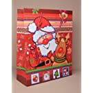 **NEW** LARGE RUDOLPH & SANTA CHRISTMAS GIFT BAGS - PACK OF 12