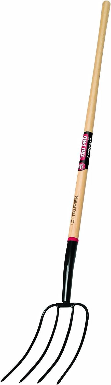 Truper 30311 Tru Pro 54-Inch Manure Fork 4-Tine, Ash Handle