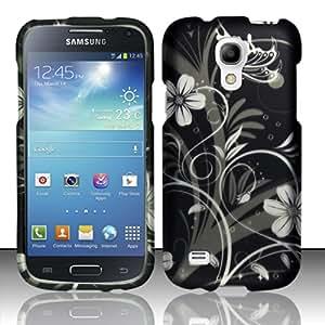 For Samsung Galaxy S4 Mini i9190 / i9192 / i9195 - Rubberized Design Cover - White Flowers