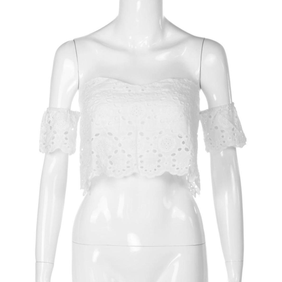 ❤ Chaleco de Encaje para Mujer,Camisa Corta de Verano de la Camisa sin Mangas de la Camisa del Verano de la Moda Absolute: Amazon.es: Ropa y accesorios