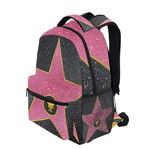 - KVMV Hollywood Walk Fame Symbol Celebrity Entertainment Culture Lightweight School Backpack Students College Bag Travel Hiking Camping Bags