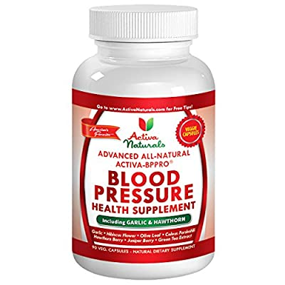 Activa Naturals Blood Pressure Health Supplement - Advanced Natural & Herbal 90 Vegetarian Capsules with Garlic, Hawthorn, Hibiscus, Juniper & Buchu Leaf Herbs