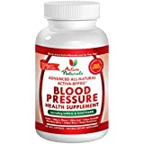 Activa Naturals Blood Pressure Health Supplement with Garlic, Hawthorn, Hibiscus, Juniper & Buchu Herbs - 90 Veg. Caps