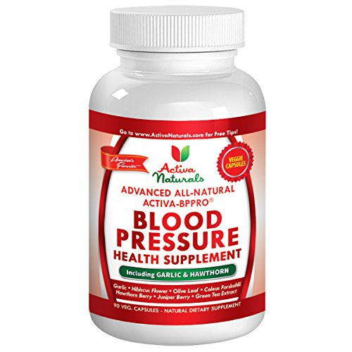 Activa Naturals Blood Pressure Supplement with Garlic, Hawthorn Berries & Advanced Natural Herbs as Herbal Dietary Supplements to Support Heart Health – 90 Veg. Capsules
