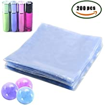 Shrink Wrap Bags Bath Bomb Wrappers Soap Packaging Protector for DIY Homemade Crafts,200PCS PVC Odorless Shrink Film Flat Transparent Bags by INNKER,(5.91 x 5.91 in)