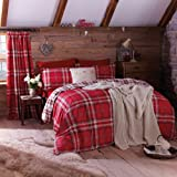 Catherine Lansfield Kelso Double Duvet Set - Red