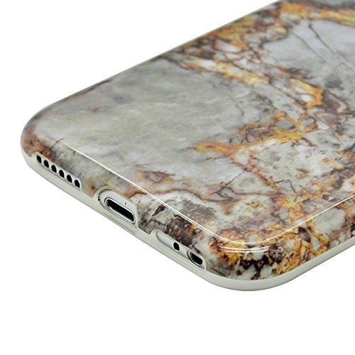 TPU Mármol Funda para iPhone 7 Plus 5.5 Sunroyal® [Anti-arañazos] [Anti-huella] Ultra Delgado Flexible Case Cover Suave Carcasa Bumper Parachoques Cubierta Caja del Teléfono para iPhone 7 Plus(5.5 Pu A-31