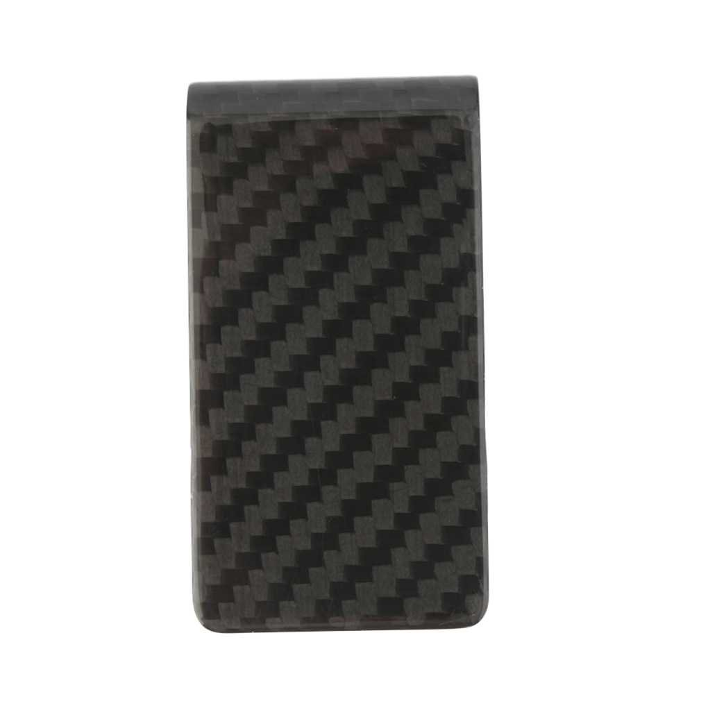 Carbon Fiber Money Clip Credit Card Holder Money Wallet Purse Bill Organiser Durable Portable Regard