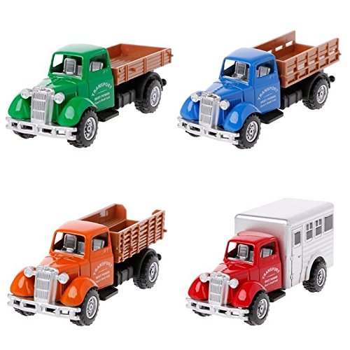 1pc Working Truck Vintage Vehicles Model Kids Playing Car Toy Roleplay Action (Best Minecraft Speed Build)