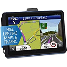 Car GPS Navigation, 7 inch Touch Screen + 8GB Voice Prompt GPS Navigation for Car with Lifetime Maps and Traffic Built-in Multi-Media and FM