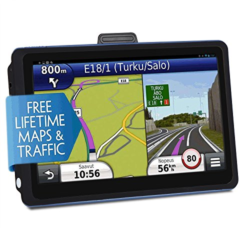 Car GPS Navigation, 7 inch Touch Screen + 8GB Voice Prompt GPS Navigation for Car with Lifetime Maps and Built-in Multi-Media and FM by FULiYEAR
