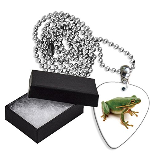 - Frog Boxed Metal Guitar Pick Necklace (GD)