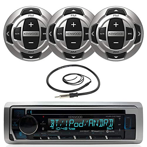 Kenwood Marine Motorsports Boat Yacht in-Dash Single DIN CD Bluetooth UBS AUX Receiver