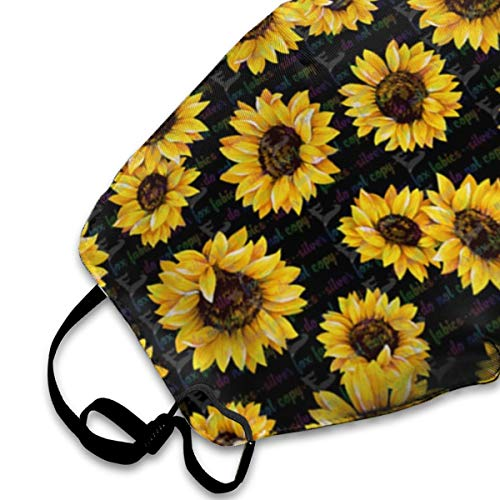 SGHGSAxbh Floral Sunflower Face Mask Dust Mask Anti Pollution Face Mask Washable Cotton Mouth Mask Men and Women for All Ages