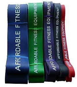 Bandas de resistencia para Crossfit - Levante - levantamiento de pesas - Fitness - 15 a 80 kg de resistencia (1 Banda Azul)