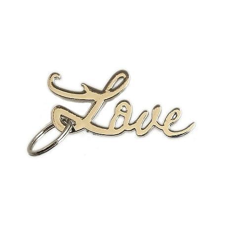Amazon.com: Love llavero abrebotellas, Plateado: Office Products