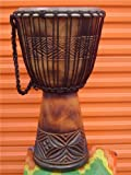 PRO Large 26'' X 15'' Djembe Deep Carved Hand Drum - Model #65m3