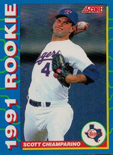 1991 Mlb Rookies - Baseball MLB 1991 Score Rookies #29 Scott Chiamparino Rangers