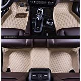 Okutech Custom Fit Luxury XPE Leather Waterproof 3D Surrounded Full Set Car Floor Mats for Jaguar (F-pace, Beige)