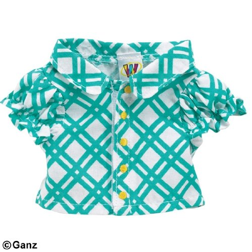 - WE000303 Turquoise Blouse Webkinz New Code Sealed With Tag