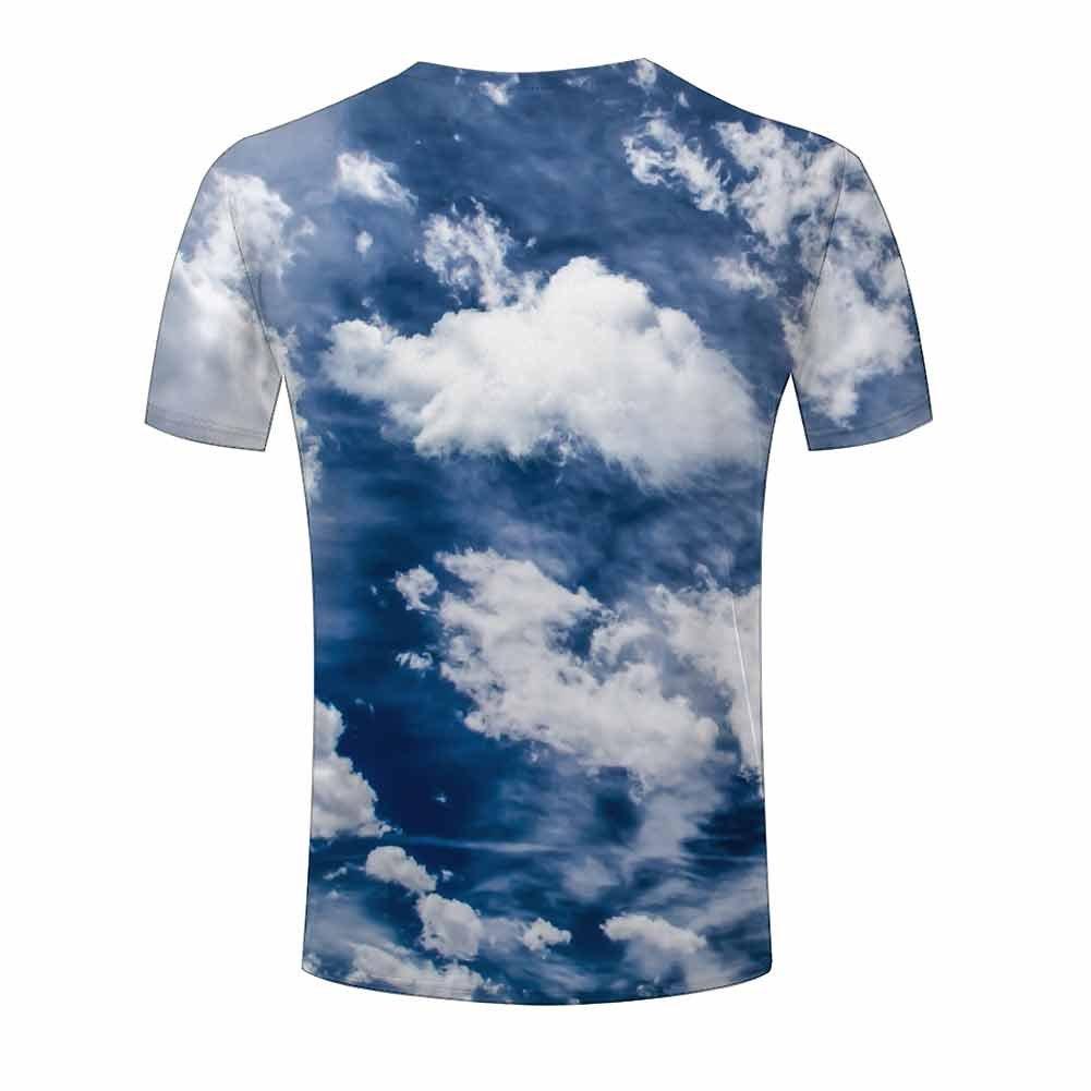 Amazon Mens Tee Shirts Top S Xxxl Blue Sky Clouds 3d Printing T