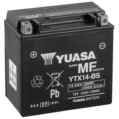 Batteria YUASA YTX14-BS, 12V/12AH (dimensioni: 150X 87X 145) per Honda GL1500F6C valcyrie anno di costruzione 1998