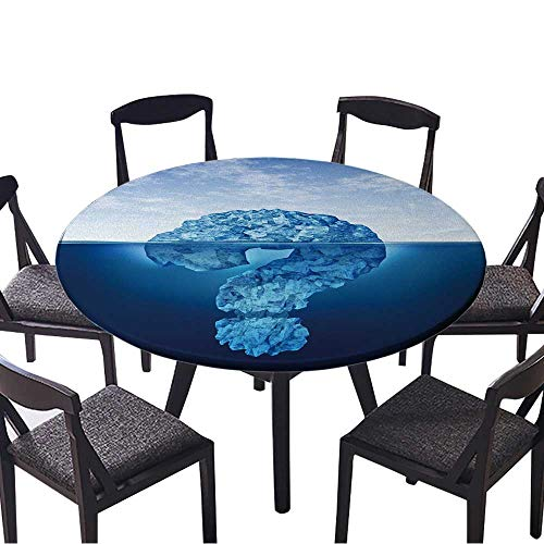 Round Table Tablecloth Private Information Hidden Insider Knowledge and Secret Personal or Business Data Machine Washable 47.5