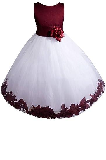 dd80a2f6e22e2 Amazon.com: AMJ Dresses Inc Baby-Girls' Burgundy Flower Girl Dress ...