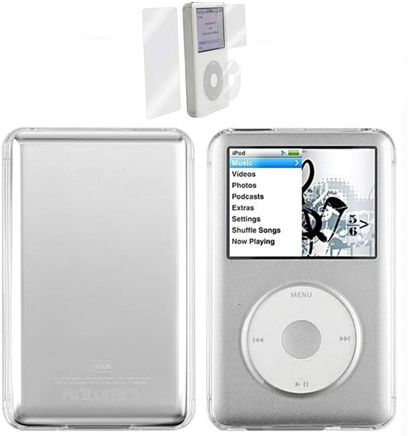 BestforYou iPod Classic Case,Clear Hard Snap-on Case Cover for Apple iPod Classic 80GB, 120GB & Latest 6th Generation 160gb launched Sept 09 + Screen Protector
