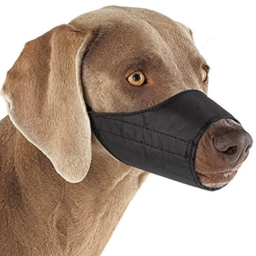 NYLON LINED MUZZLES for DOGS 3 Colors 9 Sizes Soft Dog Muzzle Collection(12 Muzzle Vet Set Black) by Guardian Gear