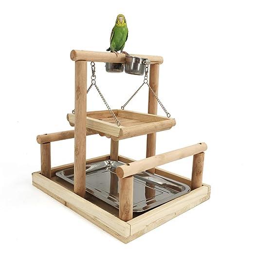 Zona de juegos para pájaros Psittacella soporte doble de la piel ...