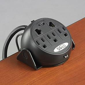 SAF2059BL - Safco 3-Outlets Power Strip