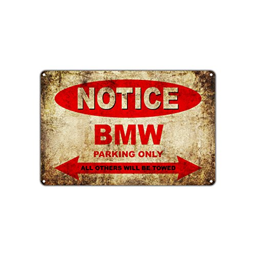 - BMW Motorcycles Bikes Only All Others Will Be Towed Parking Sign Vintage Retro Metal Decor Art Shop Man Cave Bar Aluminum 8