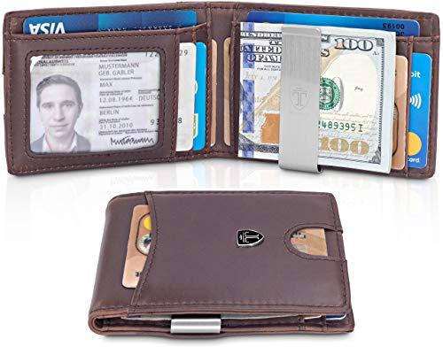 TRAVANDO Slim Wallet with Money Clip SEATTLE RFID Blocking Card Mini Bifold Men ()
