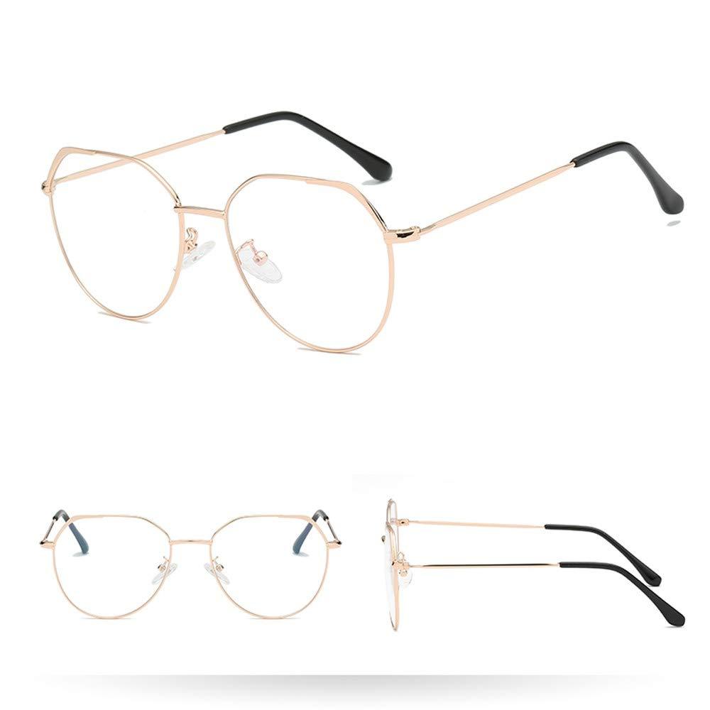FakMe Fashion Irregular Clear Lens Glasses Vintage Geek Nerd Retro Style Metal Sunglasess