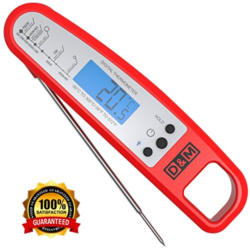 D&M Digital Meat Thermometer – Instant Read & Foldable - I