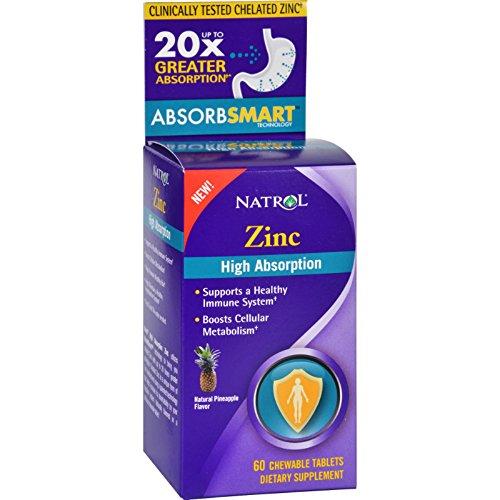 Natrol Zinc Absorption Chewable Tablets