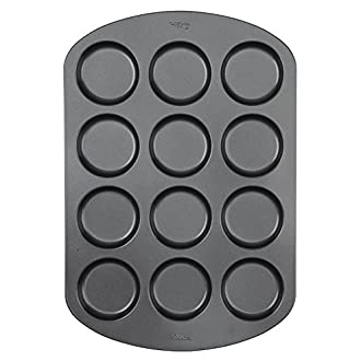 """Wilton 12-Cavity Whoopie Pie Baking Pan, Makes Individual 3"""" Diameter Baked Goods and Treats, Non-Stick and Dishwasher-Safe, Enjoy or Give as Gift, Metal (1 Pan)"""