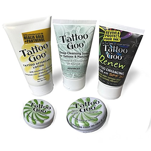 Tattoo Goo Aftercare Kit Includes Soap, New formula, Tattoo Goo, Lotion, Color Guard TG525