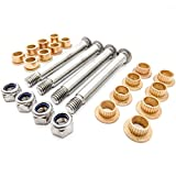 Red Hound Auto Repair Front Door Hinge Pin & Bushing Kit 4 pin 2 Door for Compatible with Ford Lincoln Mercury