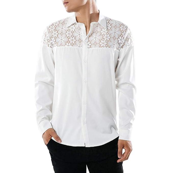 VonVonCo Camisetas Fortnite Hombre Polo Los Camisa Camisa De Manga Larga De Encaje Casual para Hombre