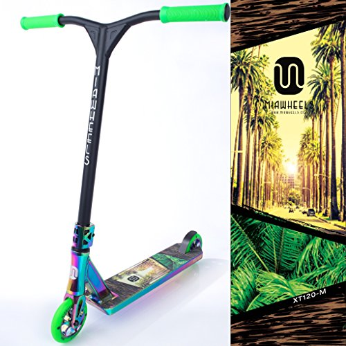 MIAWHEELS XT-120 (MIAMI - GREEN) STUNT SCOOTER- NEO-CHROME- 120MM WHEELS- MADE FOR TRICKS- PRO SCOOTER