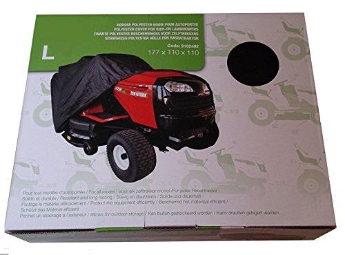 Bache housse pour tracteur tondeuse autoportée à éjection latérale